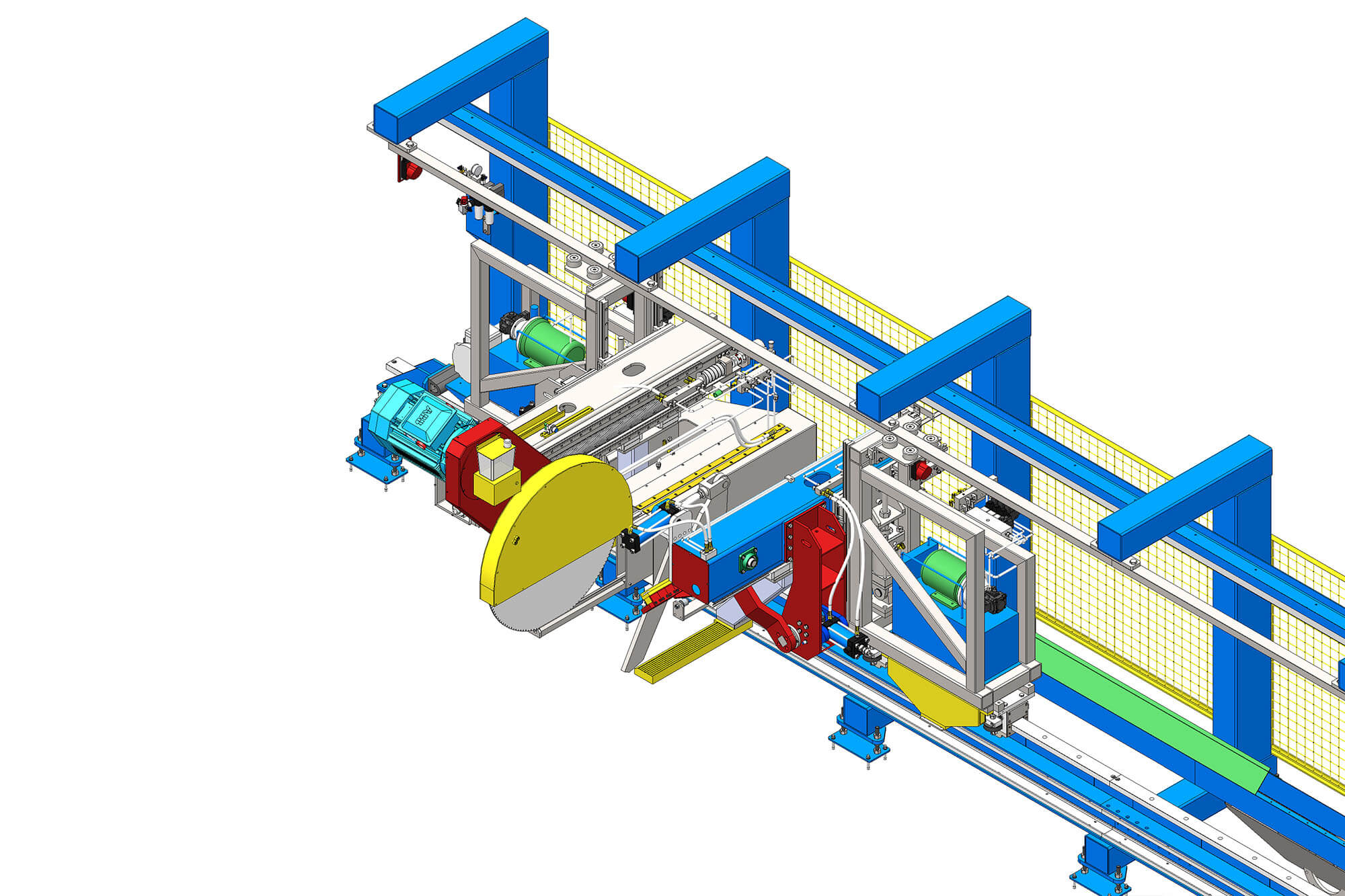 Top aluminum extrusion equipment factory price for pulling and sawing aluminum profiles-1