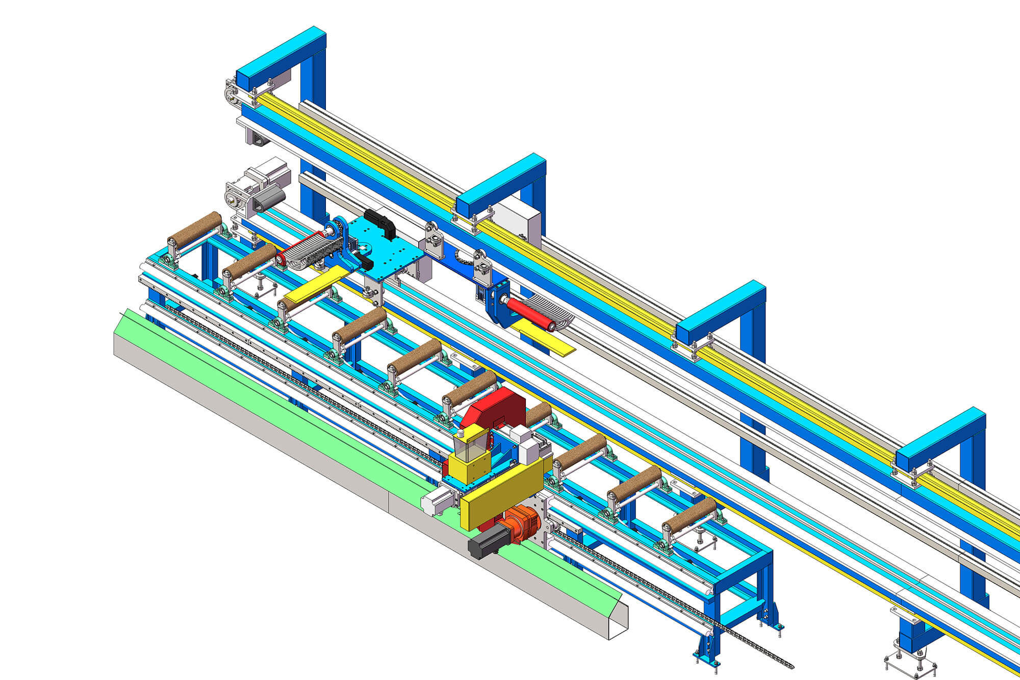 Top aluminum extrusion equipment factory price for pulling and sawing aluminum profiles-2