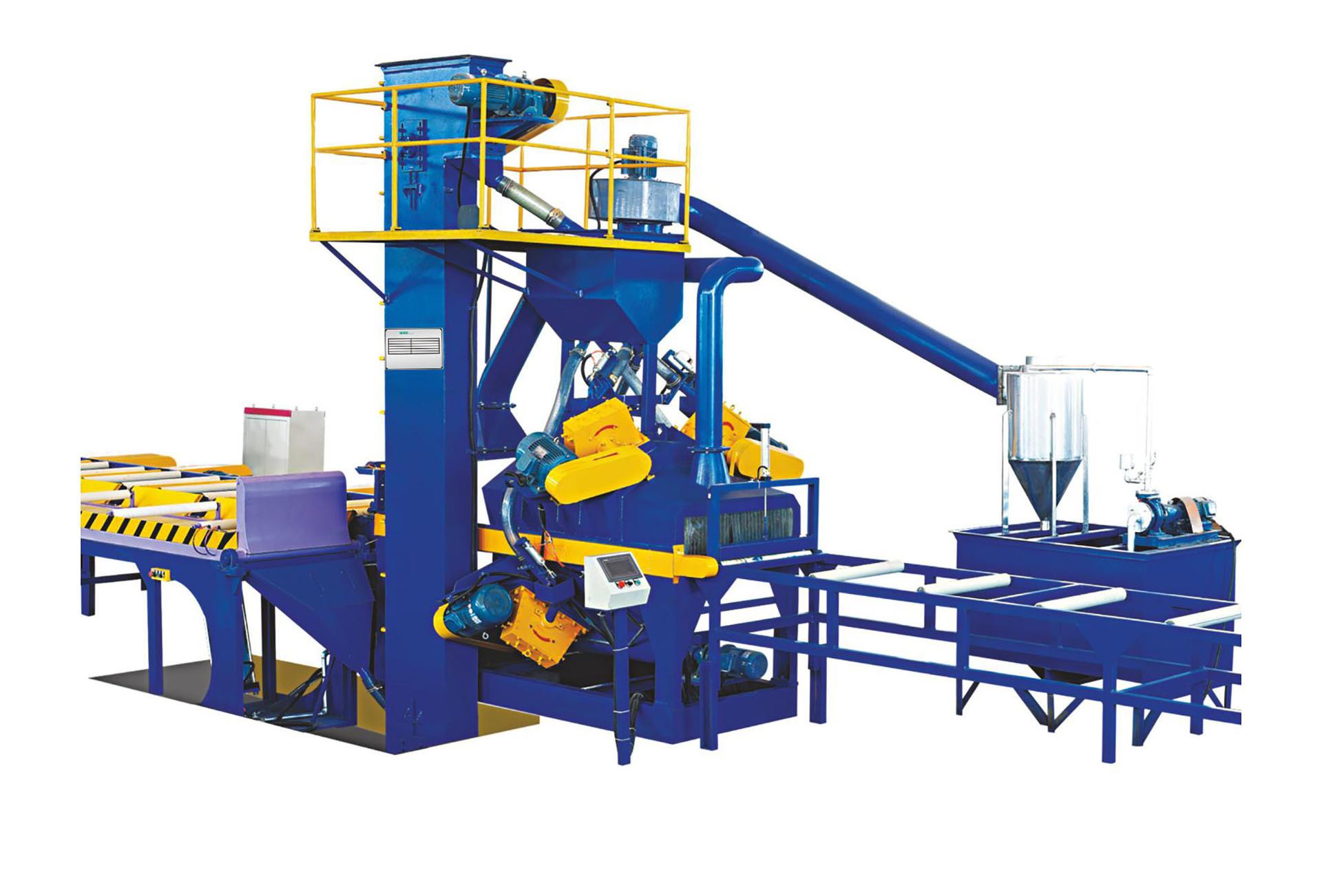 Aluminum profile sand blasting machine