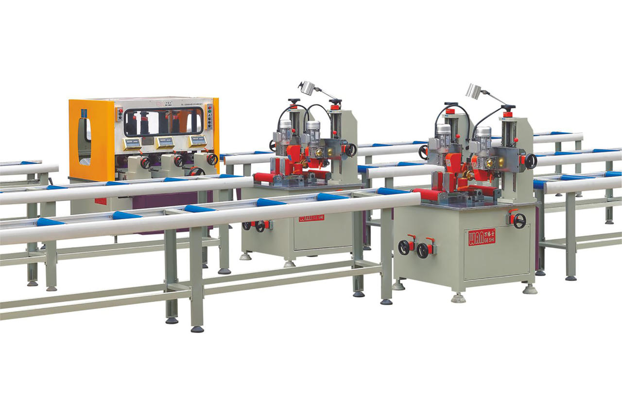 Thermal break aluminum profile assembly machine(two steps)