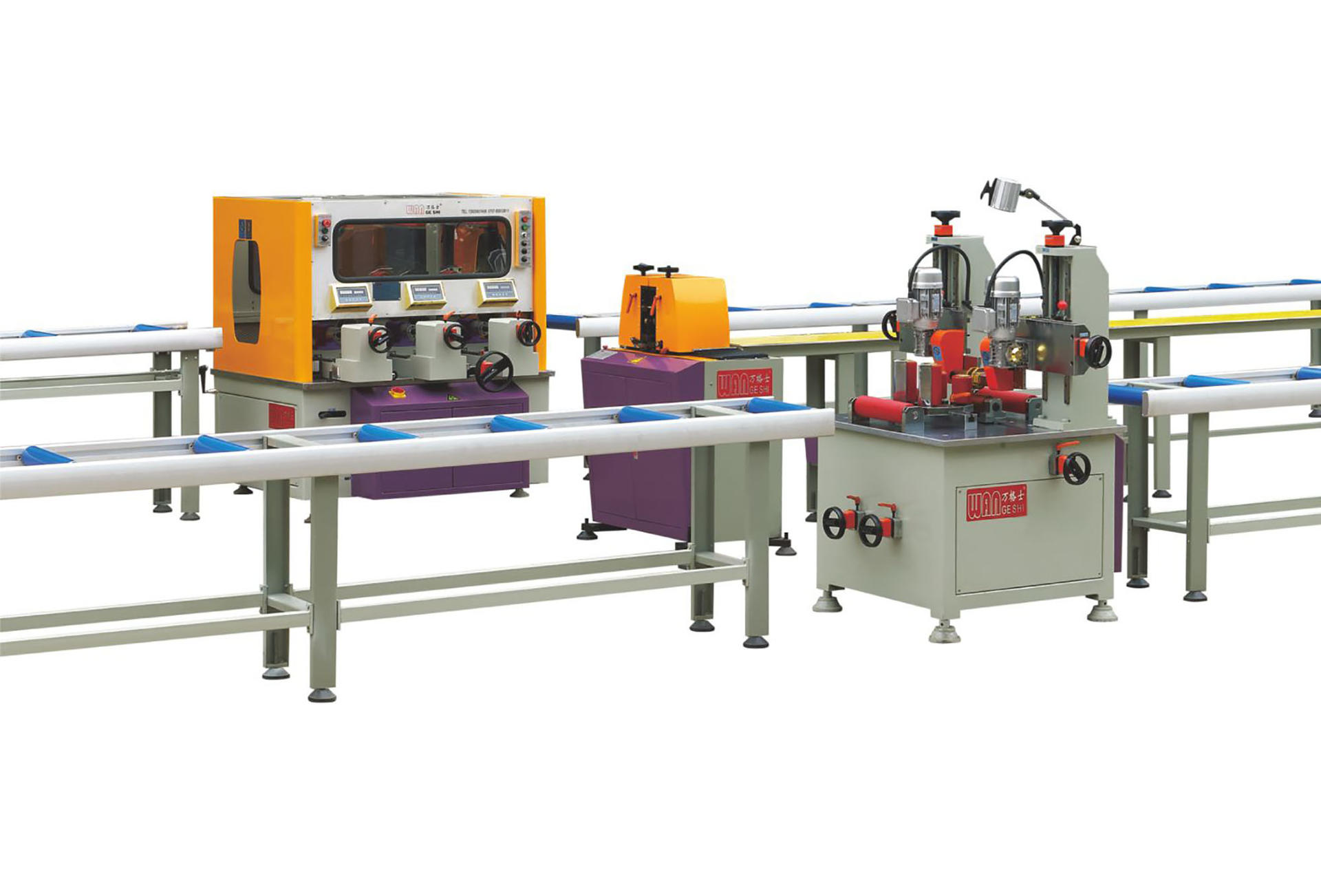 Thermal break aluminum profile assembly machine(three steps)