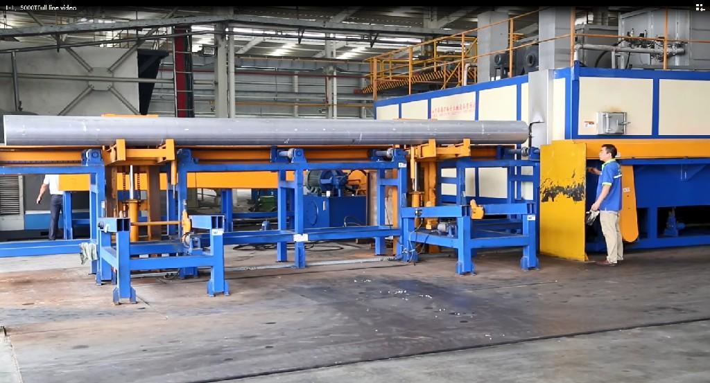 5500T multiple billet furnace  extrusion line