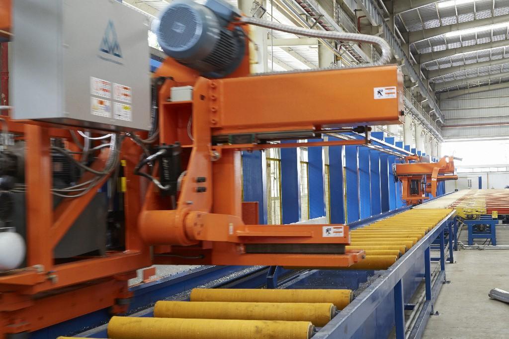 4500T single billet furnace extrusion line