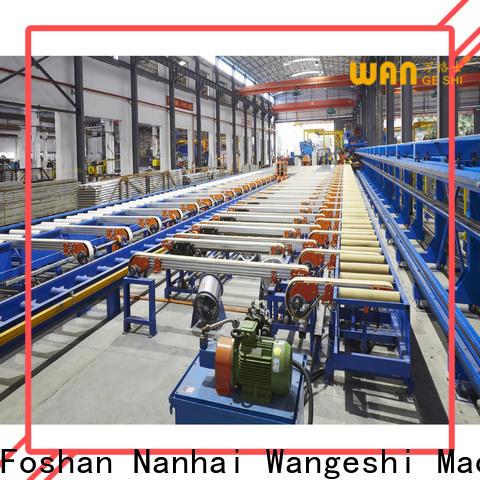 Wangeshi aluminium extrusion machines factory price for aluminum profile