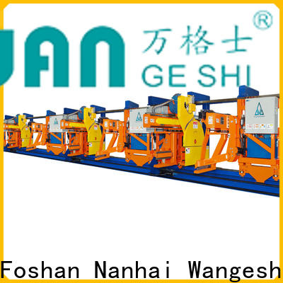 Wangeshi extrusion equipment manufacturers cost for pulling and sawing aluminum profiles