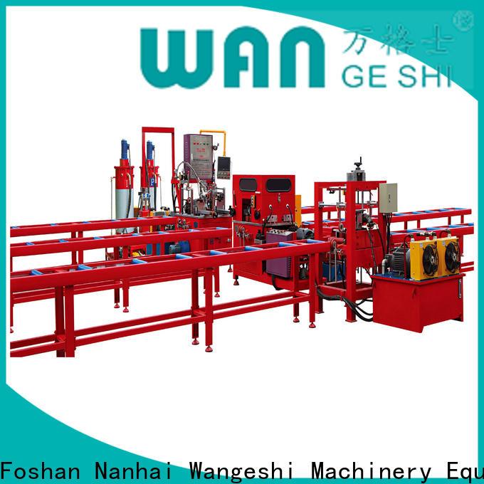 Wangeshi Custom knurling machine for sale for alumium profile processing