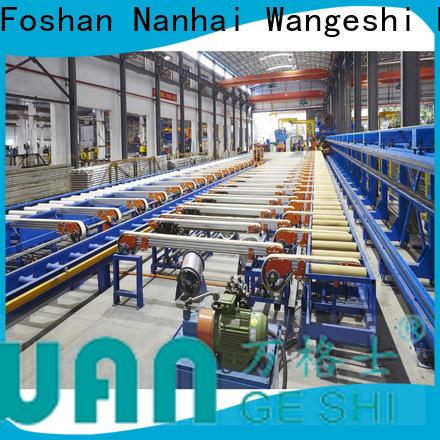 Wangeshi High efficiency aluminum extrusion equipment manufacturers for aluminum profile handling
